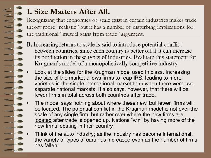 1. Size Matters After All.