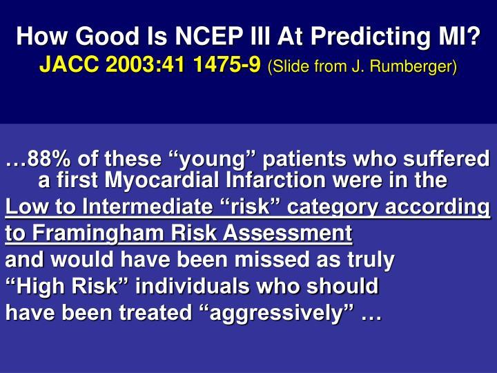 How Good Is NCEP III At Predicting MI?