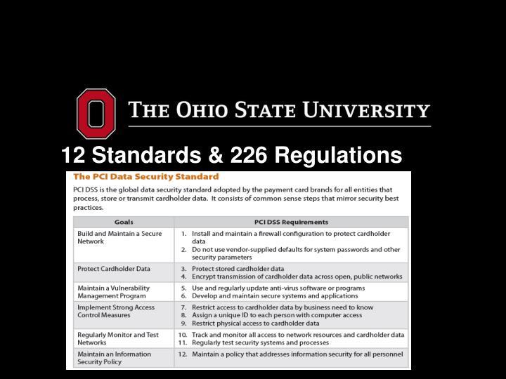 12 Standards & 226 Regulations