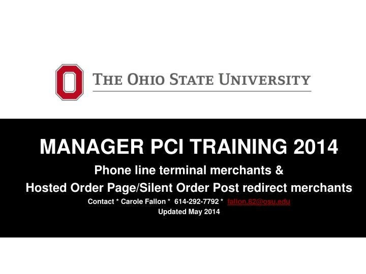 MANAGER PCI