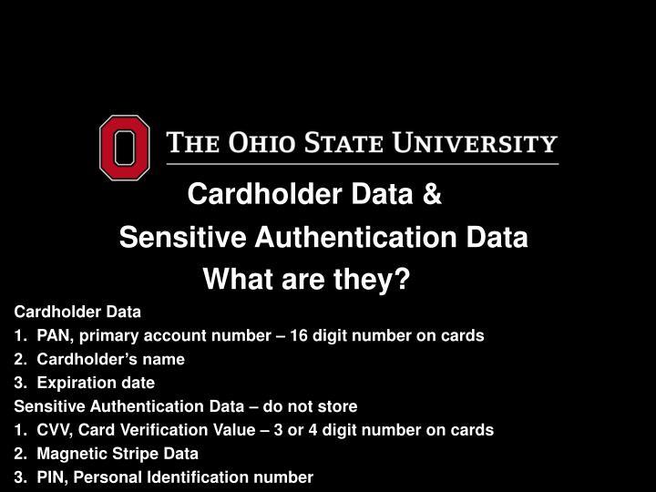 Cardholder Data &