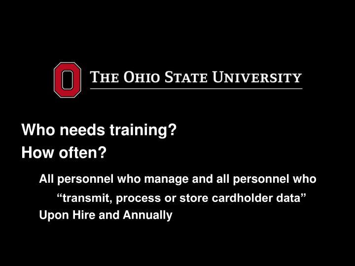 Who needs training?