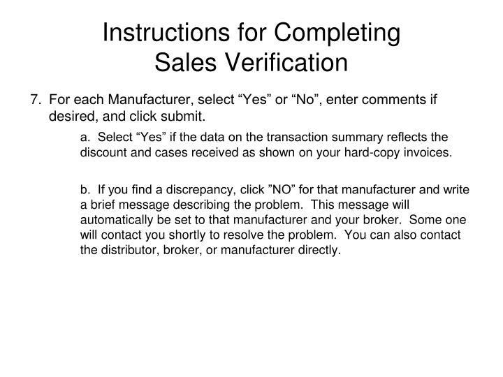 Instructions for Completing