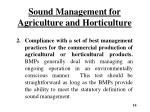 sound management for agriculture and horticulture1