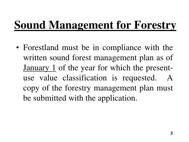 Sound Management for Forestry