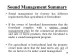 sound management summary1