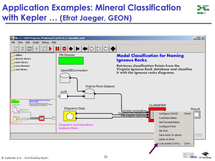 Application Examples: Mineral Classification with Kepler …