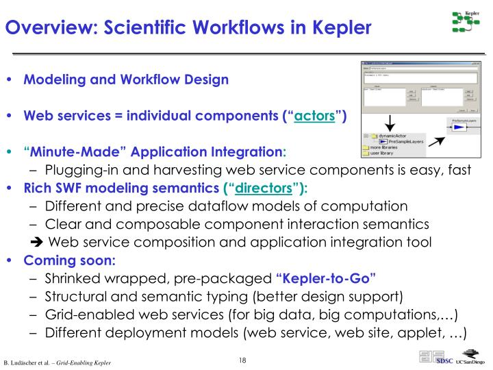 Overview: Scientific Workflows in Kepler