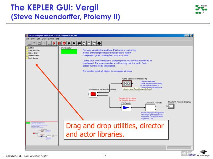 The KEPLER GUI: Vergil