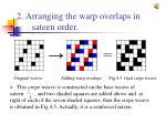 2 arranging the warp overlaps in sateen order