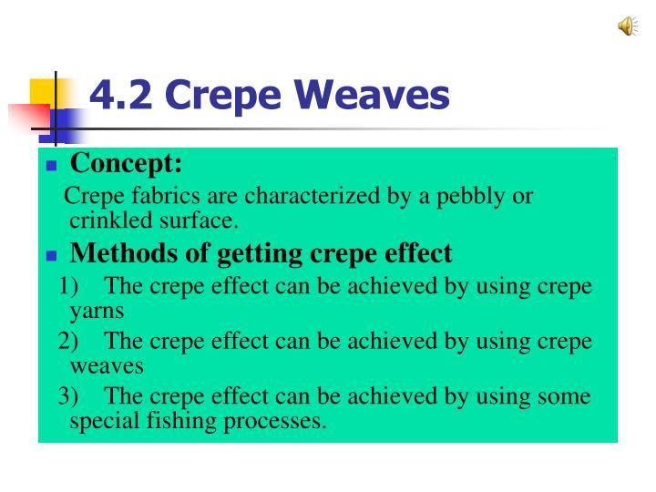 4.2 Crepe Weaves