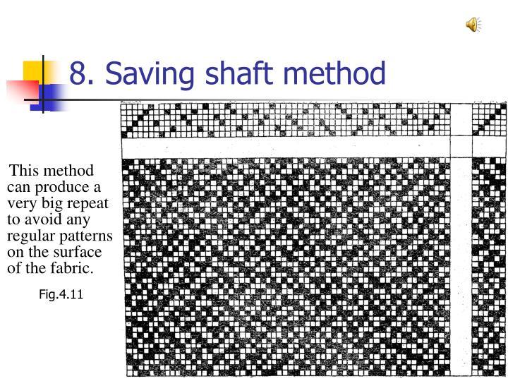 8. Saving shaft method
