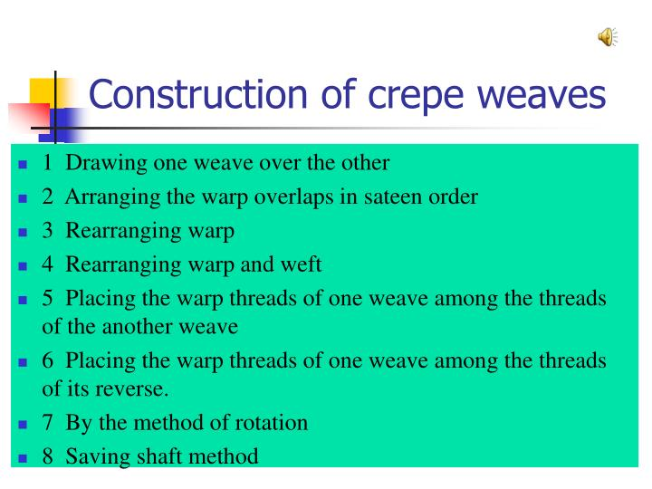 Construction of crepe weaves