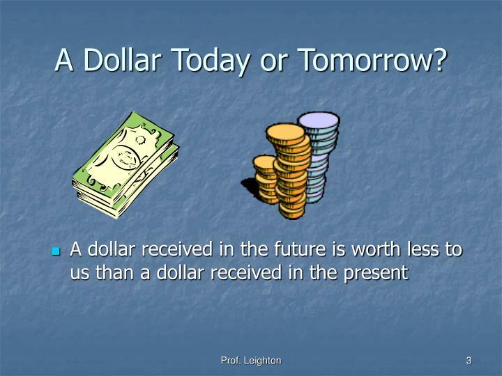 A Dollar Today or Tomorrow?