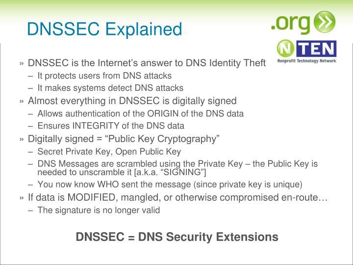 DNSSEC Explained