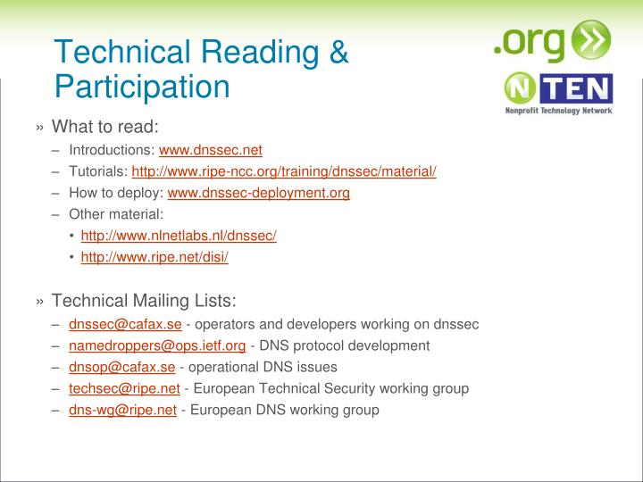 Technical Reading & Participation