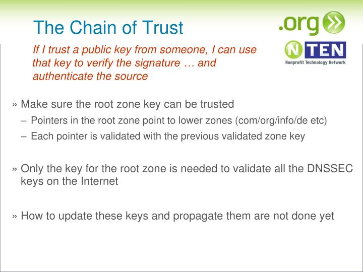 The Chain of Trust