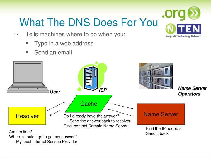 What The DNS Does For You