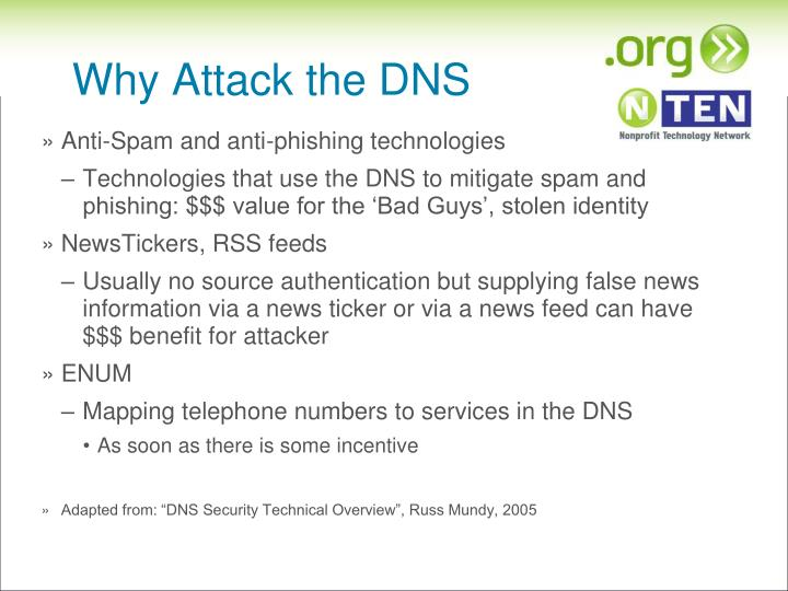 Why Attack the DNS