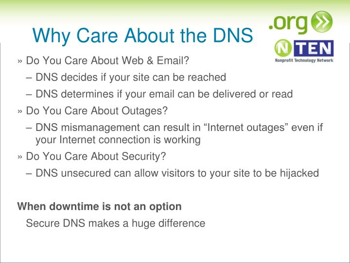 Why Care About the DNS