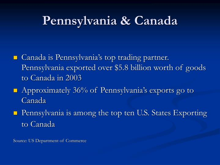 Pennsylvania & Canada