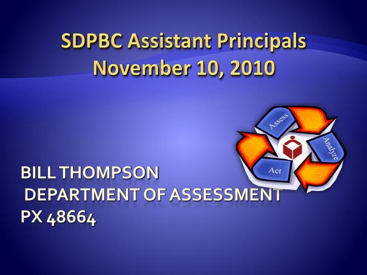 SDPBC Assistant Principals