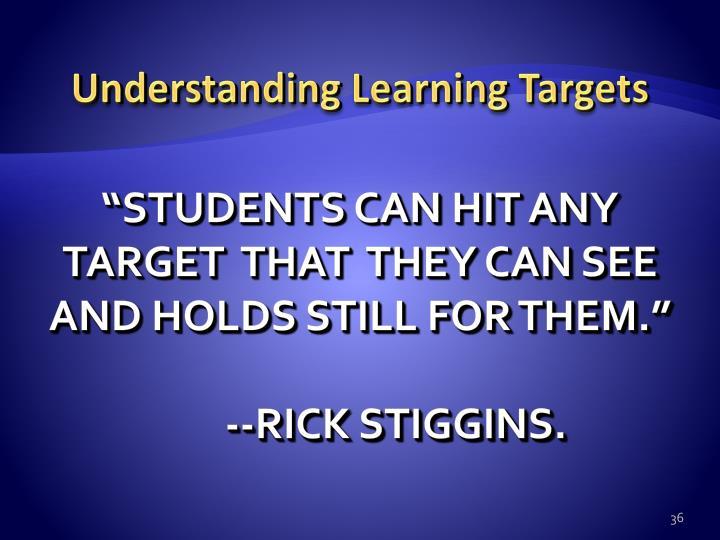 Understanding Learning Targets