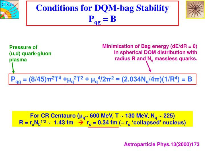 Conditions for DQM-bag Stability   P