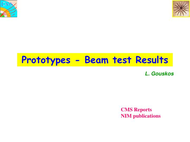 Prototypes - Beam test Results