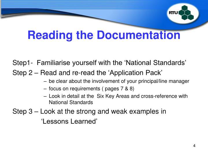 Reading the Documentation