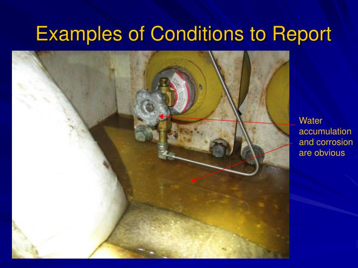 Examples of Conditions to Report
