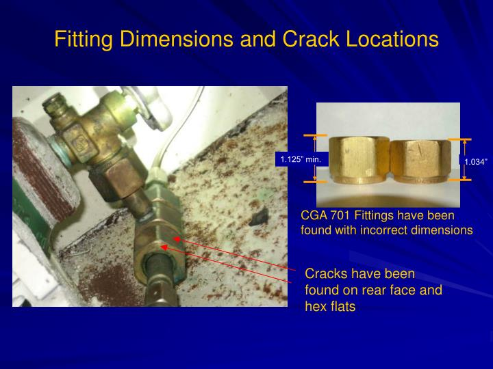 Fitting Dimensions and Crack Locations