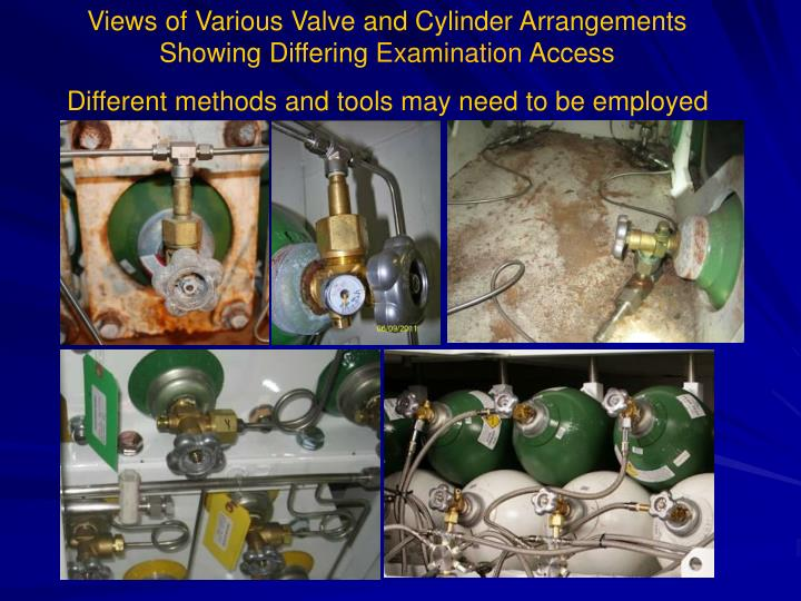 Views of Various Valve and Cylinder Arrangements Showing Differing