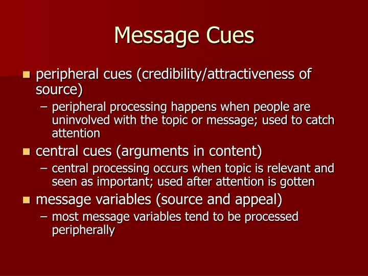 Message Cues