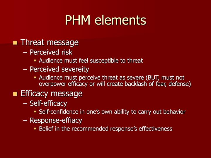 PHM elements