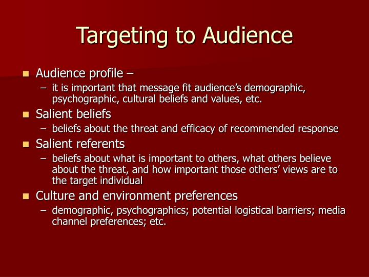 Targeting to Audience
