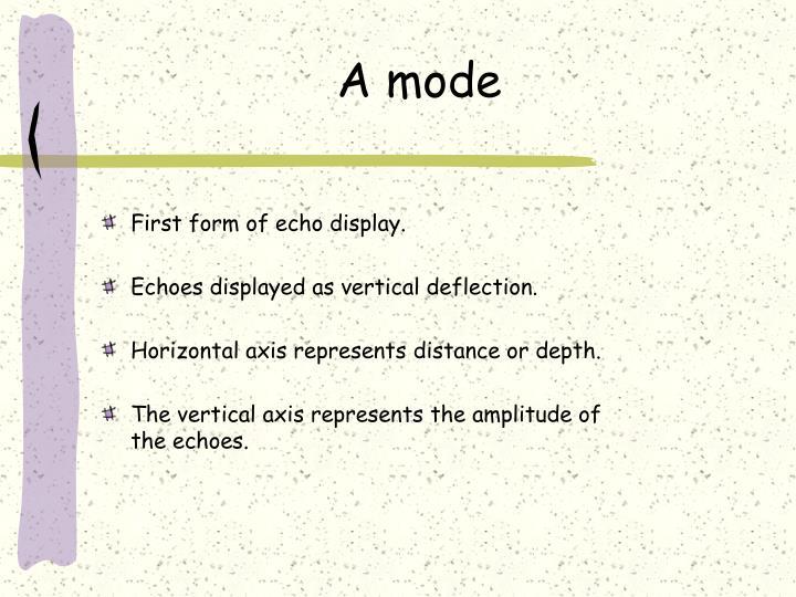 A mode