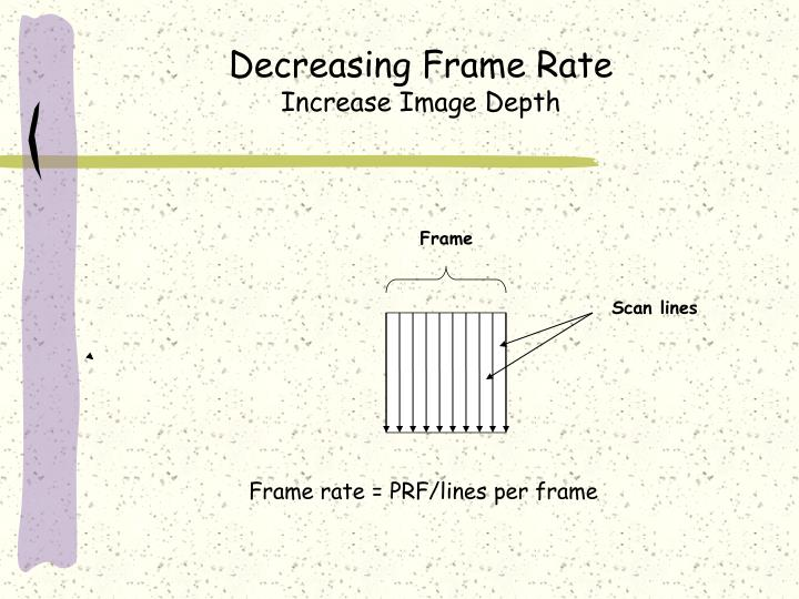 Decreasing Frame Rate