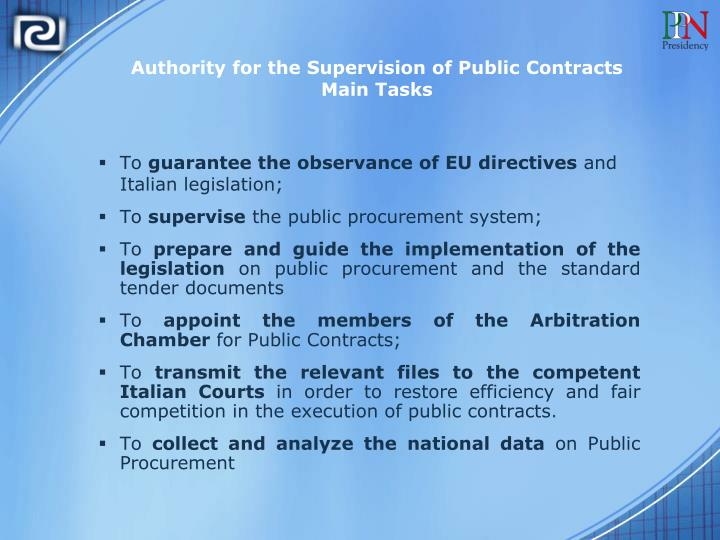 Authority for the Supervision of Public Contracts
