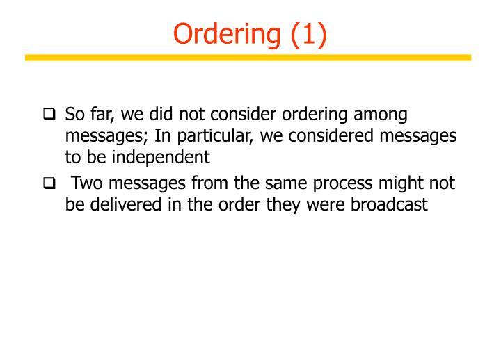Ordering (1)