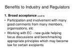 benefits to industry and regulators1