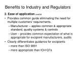 benefits to industry and regulators3