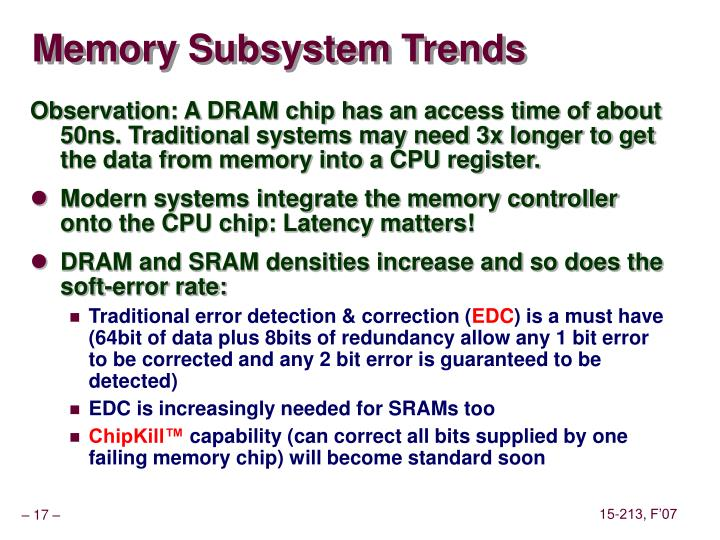 Memory Subsystem Trends