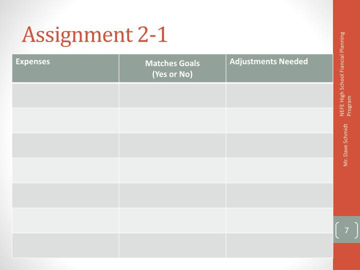 Assignment 2-1