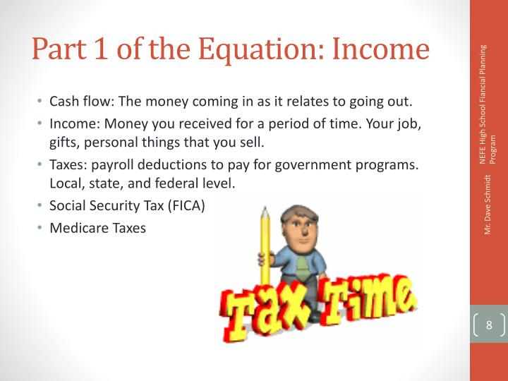 Part 1 of the Equation: Income