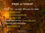 free or cheap2