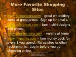 more favorite shopping sites