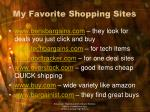 my favorite shopping sites
