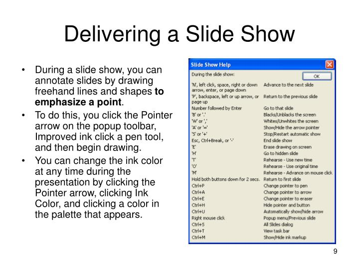 Delivering a Slide Show