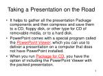 taking a presentation on the road1